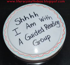 Tap light to help students remember guided reading rules. This blog has many helpful teaching ideas.
