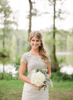 bridesmaid in white + silver | Nancy Ray #wedding