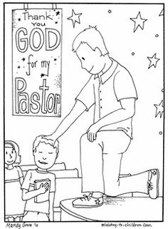Many churches celebrate clergy appreciation Sunday on the second Sunday of October. Here is a way for the children in your church to take part in showing their love for their pastor. This pastor appreciation coloring page is free for you to print and use in your church, home, or school.