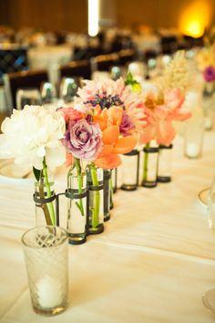 centre de table #DIY #mariage #fleurs