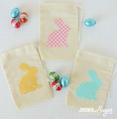 No Sew Easter Bunny pouch tips