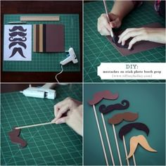 mustache props. For a photo booth