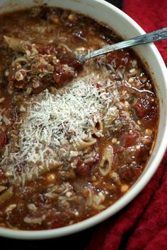 CrockPot Vegetarian Lasagna Soup Recipe