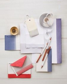 Dip-Dyed Stationery and Cards