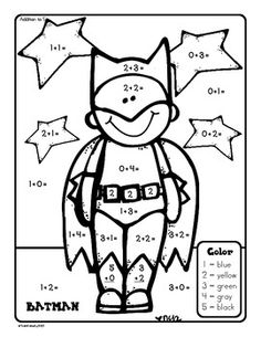 Touch Point Addition - Superheroes Freebie