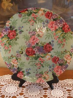 DIY Covered plate with Mod Podge & fabric~ Tutorial