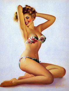 Edward Runci Vintage Pin Up Girls