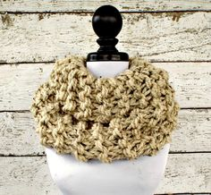 Highlands Cowl in Oatmeal Tweed - READY TO SHIP