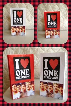 One Direction Goody Bags  by NubiansNook on Etsy, $20.00