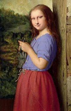 Knitting Mona Lisa by Patrizia (Germany)