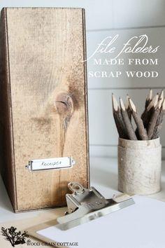 Start organizing! DIY Magazine files made from scrap wood via http://www.infarrantlycreative.net/