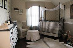 Pamela Brown's Elegant Nursery featuring Bratt Decor's Venetian crib in slate