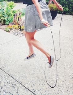 Love jumping rope!  Good for lymph system!