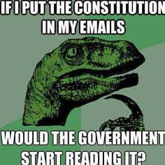 Would the government start reading it?
