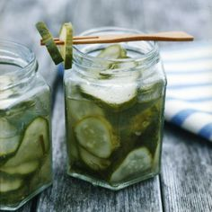 These incredibly simple pickles have just the right amount of garlic and dill and are intensely crunchy and refreshing right out of the refrigerator.