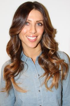 Ombre brunette with caramel tips