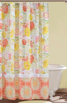 Love! Floral Shower Curtain