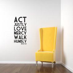 Micah 6:8 Act Justly Love Mercy Walk Humbly