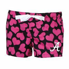 Alabama Crimson Tide Ladies Charmed Hearts Sleep Shorts