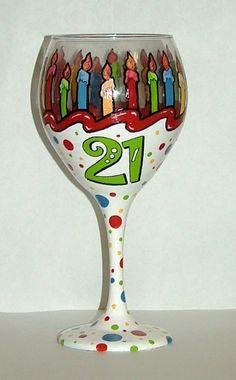 Etsy Transaction - 21st Birthday Wine Glass
