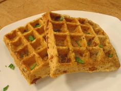 Shrimp, Quinoa & Coconut Waffles: This recipe is courtesy of Thomas Bonnes, TODAY's Home Chef Challenge contender. These savory waffles are perfect for breakfast, lunch, or dinner!