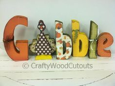 Gobble Thanksgiving Wood Craft Home Decor from Crafty Wood Cutouts
