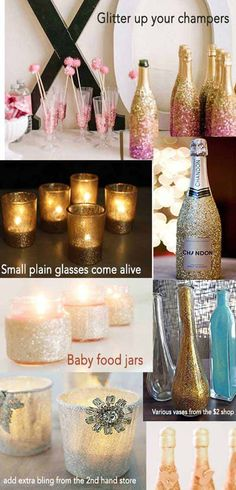 idea, champagne, layer cakes, glass, wine bottles