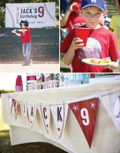 All American Baseball Birthday Party