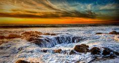 Thor's Well, on the Oregon coast -- Chris Mullins
