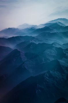 aerial view: the Alps