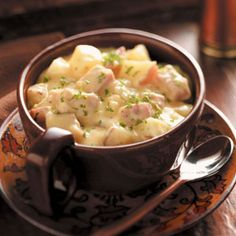 Slow Cooker Creamy Ham and Potatoes