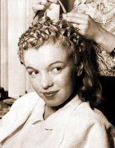 Pincurl. Marilyn Monroe