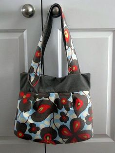 Super cute fabric bag, with pattern and wallet pattern