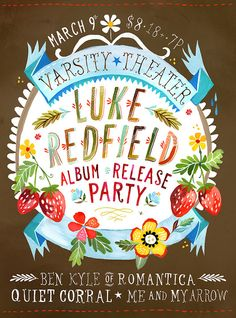 Gig poster by Katie Daisy