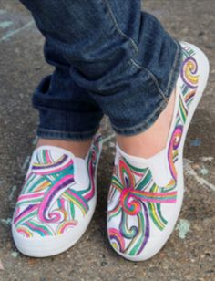 Upcycle an old pair of sneakers into a work of art this summer!
