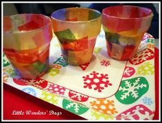A #Christmas craft for #kids that shows them how to make their own #votive.