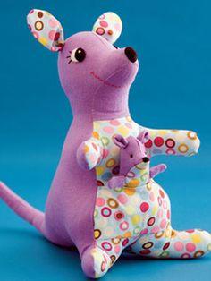 puppet babi, patterns, sewing crafts, kangaroo pattern, fingers