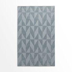 Andes Wool Rug, Dusty Blue, 2.5'x7' @west elm