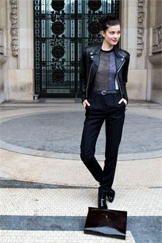 Larissa Hofmann off-duty in Paris during Couture Week