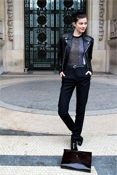Larissa Hofmann off-duty in Paris during Couture Week