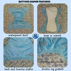 Buttons Cloth Diaper Features (@Buttons Diapers)