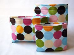 Reusable Snack Bags and Reusable Sandwich Bag  Set of by MelsSells, $14.50