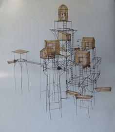 'du Fil de Fer.' Whimsical models by Isabelle Bonte.