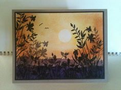 paper crafts, sunset card
