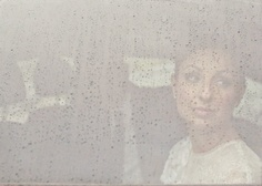 bride on a rainy day
