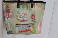 pam garrison painted tote