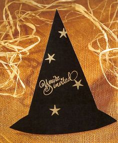Witch hat party invitation