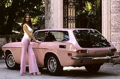 vintag, pink volvo, volvo 1800es, volvo p1800, wheel, pink cars, dream, 1973 volvo, wagon