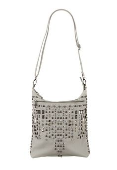 Rhinestone and Stud Embellished Crossbody Bag (original price, $34) available at #Maurices
