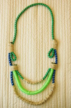 funky bungee cord necklace
